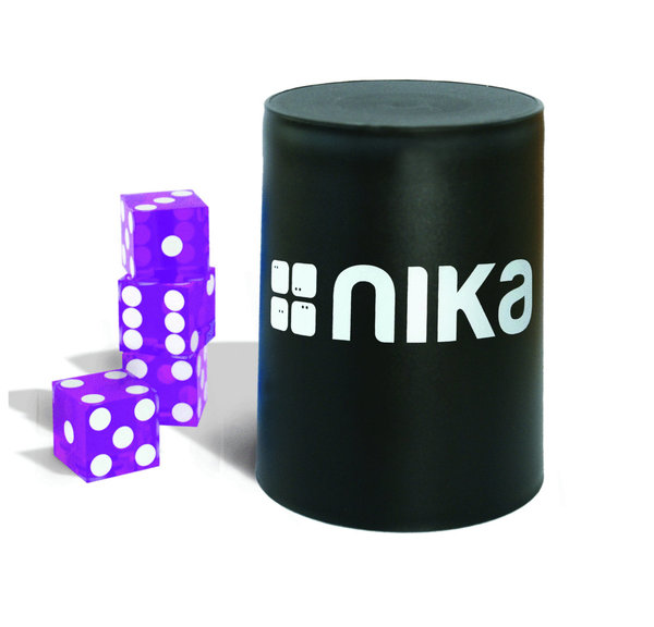 nika Dice Stacking Basic Set Purple Black Cup11104